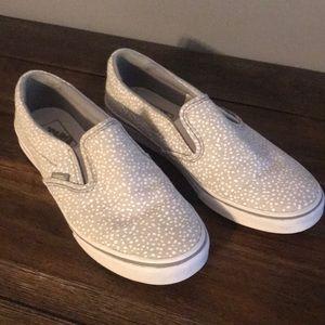 Gray & White Speckled Classic Vans Slip-ons